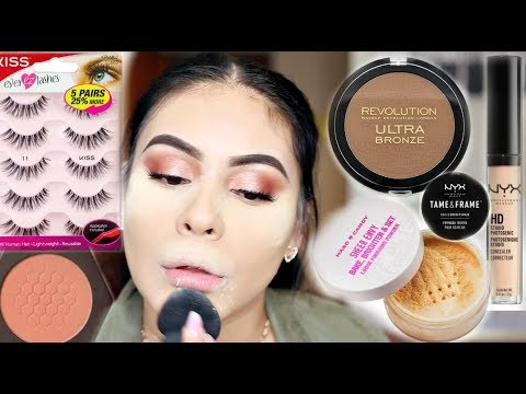 drugstore makeup tutorial for beginners using affordable